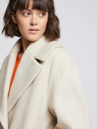 Mid-length wool coat - Praline