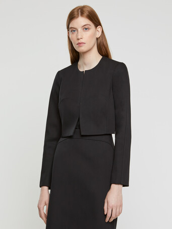 Cotton couture cropped jacket - Noir