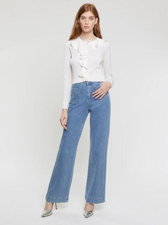 Merino-wool cardigan - Off white