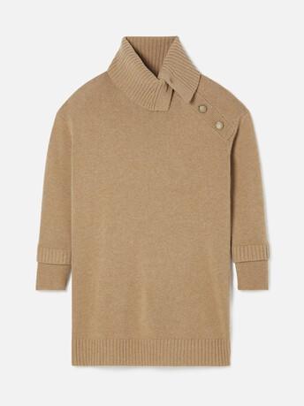 Robe en laine cachemire - Camel