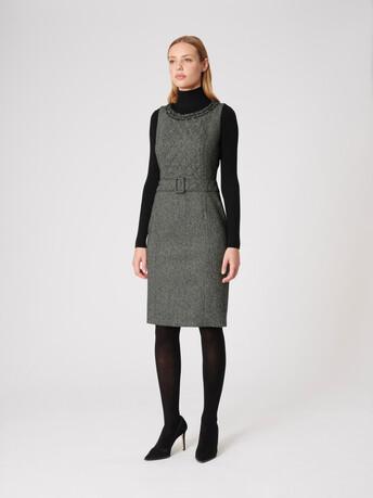 Tweed dress - Noir