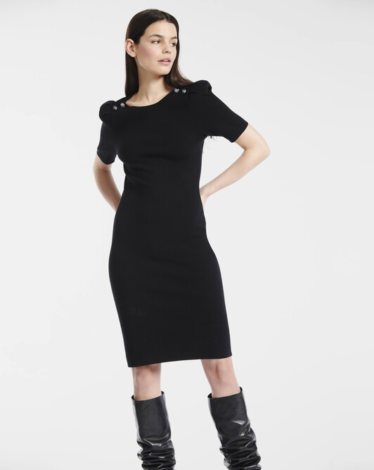 Matte viscose dress - Noir