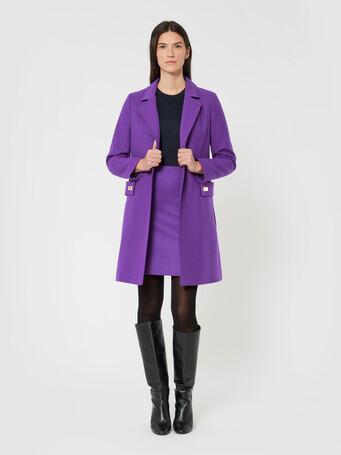 Manteau en drap de laine - Amethyste