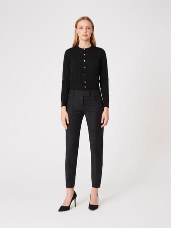 Merino wool cardigan - Noir
