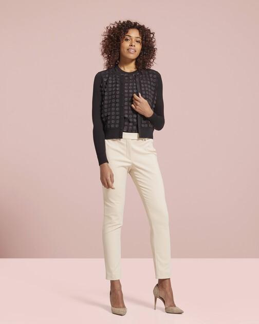Silk and cotton classic cardigan