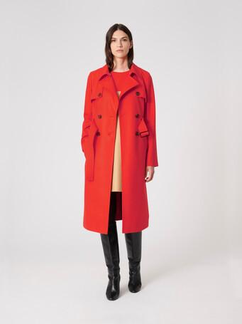 Manteau en drap de laine - Cornaline