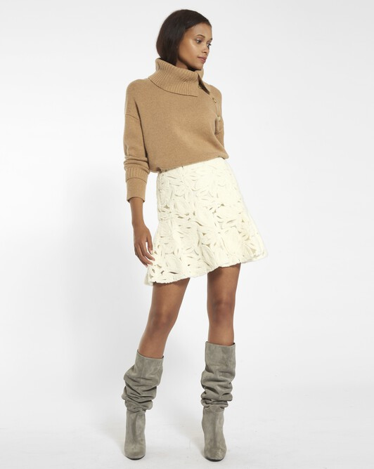 Snow lace skirt - natural