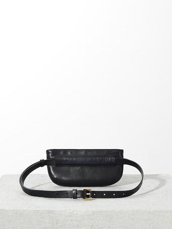Lambskin leather bag - Noir / rouge