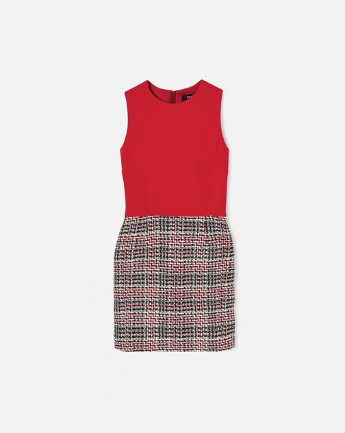 Prince of Wales checked cotton dress