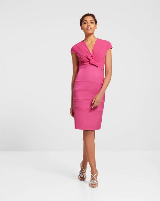 Robe en ottoman stretch - Pink
