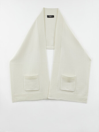 Wool and cashmere scarf - Off white