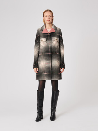 Check double-faced coat - Multicolore