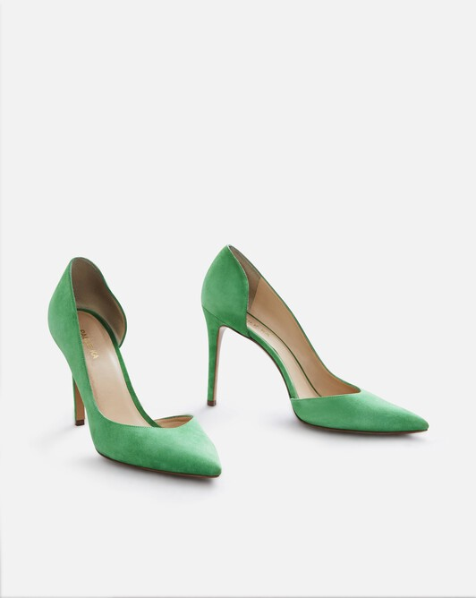 Suede leather pumps - Trefle