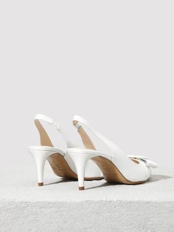 Escarpins en ottoman stretch - Blanc casse
