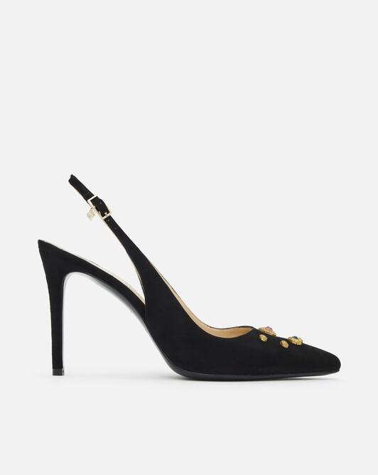 Suede pumps - black