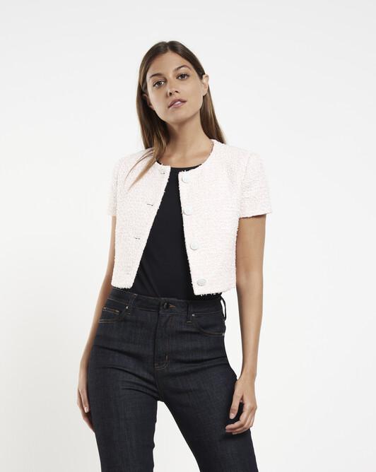 Pastel tweed jacket - Magnolia