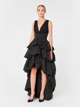 Taffeta dress - Noir