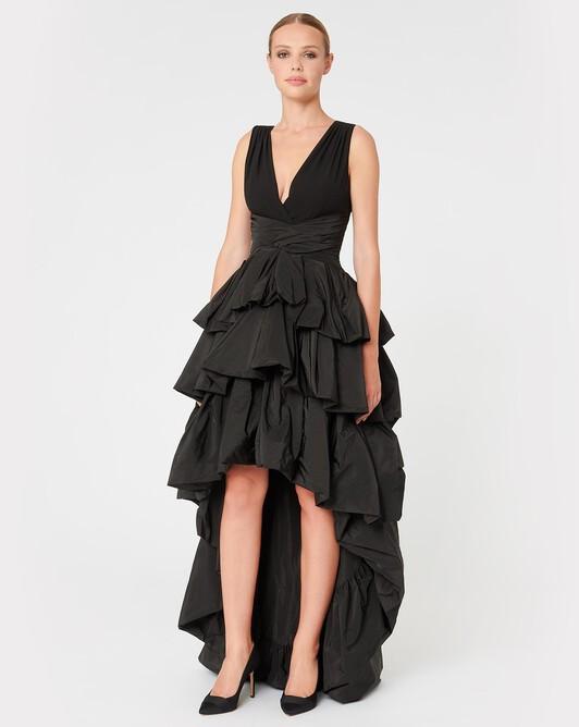 Robe en taffetas - Noir