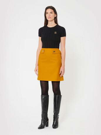 Wool skirt - Ocre