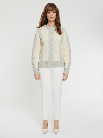 KNITTED SWEATER - Souris