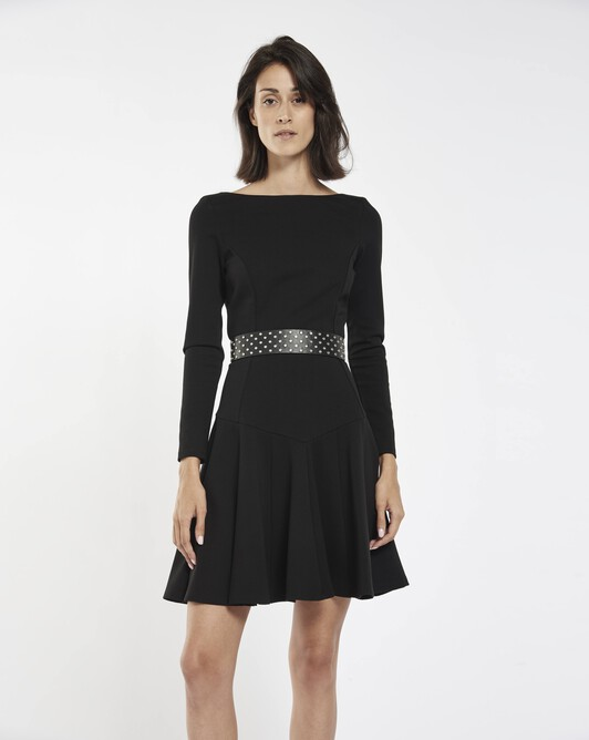 Robe en milano - Noir