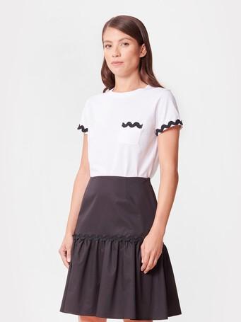 Cotton jersey T-shirt - White