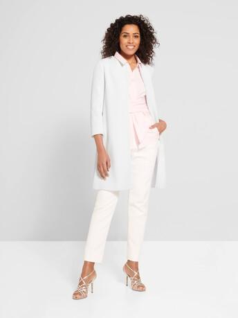 Manteau en piqué de coton - Blanc