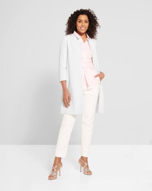 Cotton-piqué coat
