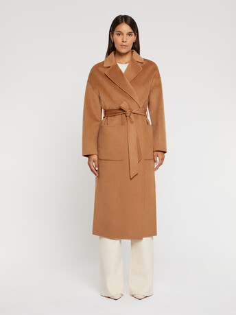 Wool and cashmere robe coat - Camel