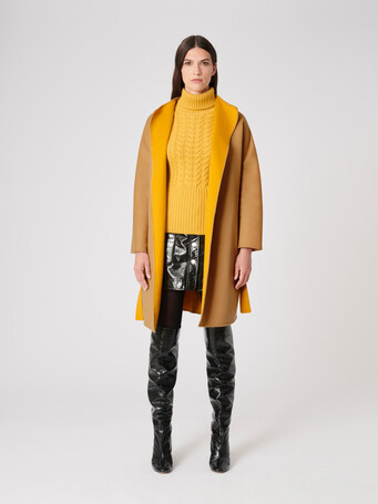 Double-faced coat - Camel / ocre