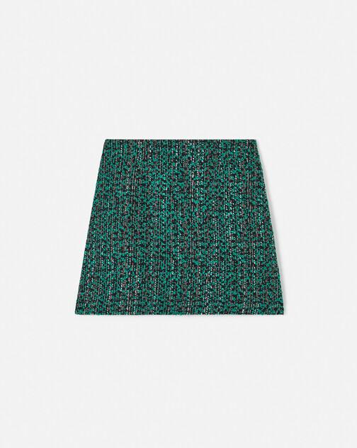Jupe en tweed bicolore