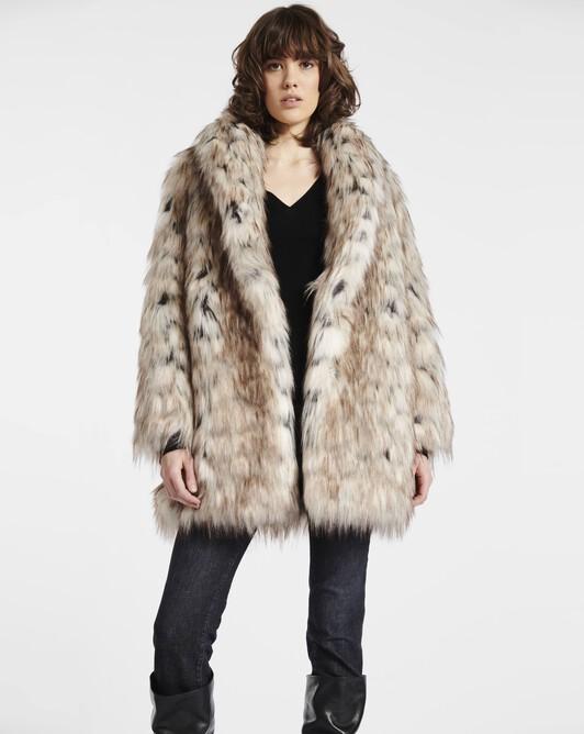 Manteau en fourrure tricolore - tricolore