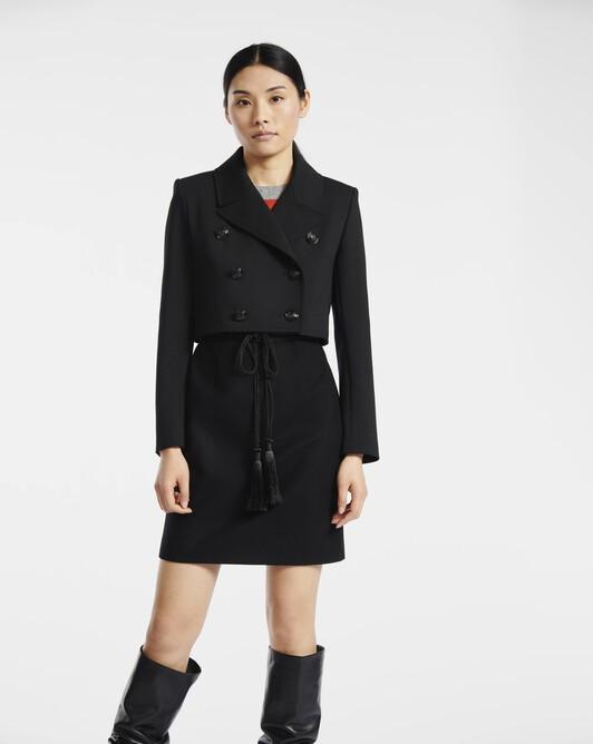 Veste en tricotine de laine - Noir