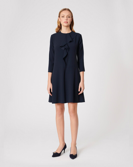 WOVEN DRESS - Navy blue