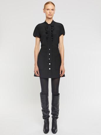 Crepe de chine T-shirt - Noir