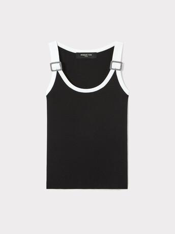 Débardeur en coton - Noir / blanc