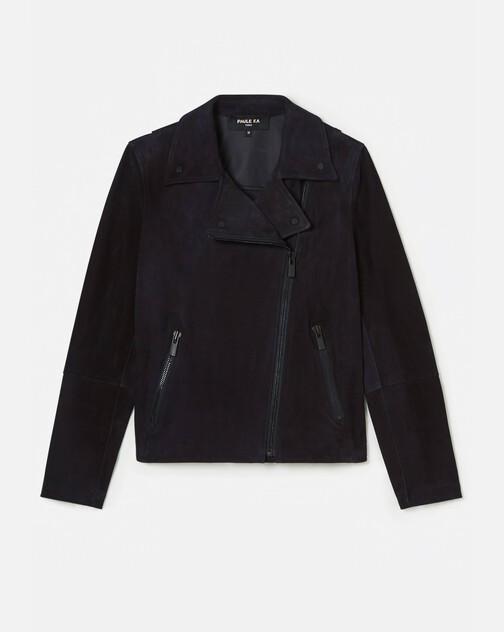 Lambskin leather biker jacket