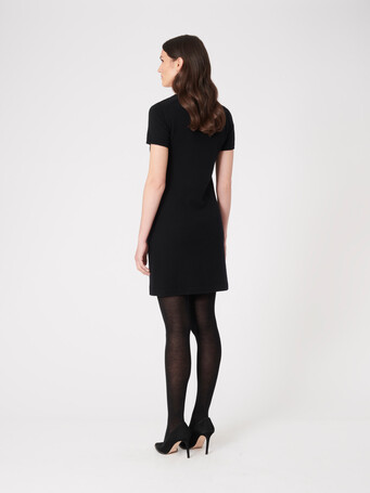 Wool and cashmere dress - Noir