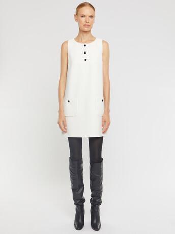 Robe en tricotine stretch - Blanc casse