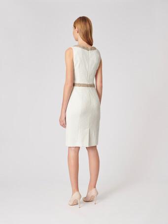 Plumetis canvas dress - Off white