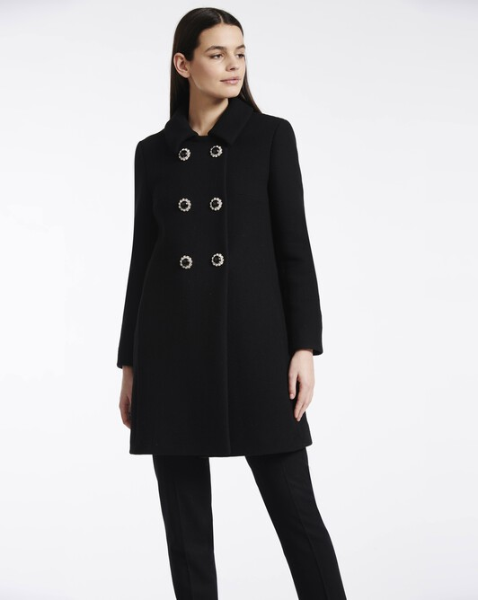 Wool coat - Noir