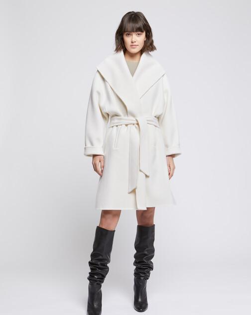 Manteau peignoir en laine et cachemire