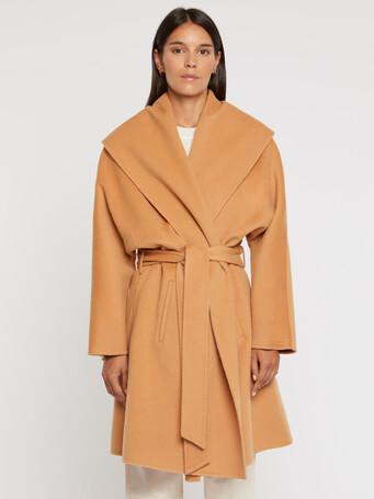 Manteau peignoir en laine et cachemire - Camel