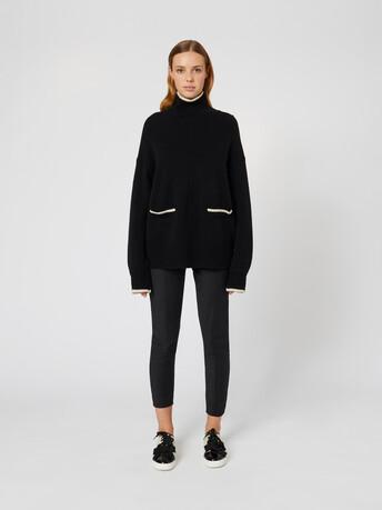 Pull en laine - Noir