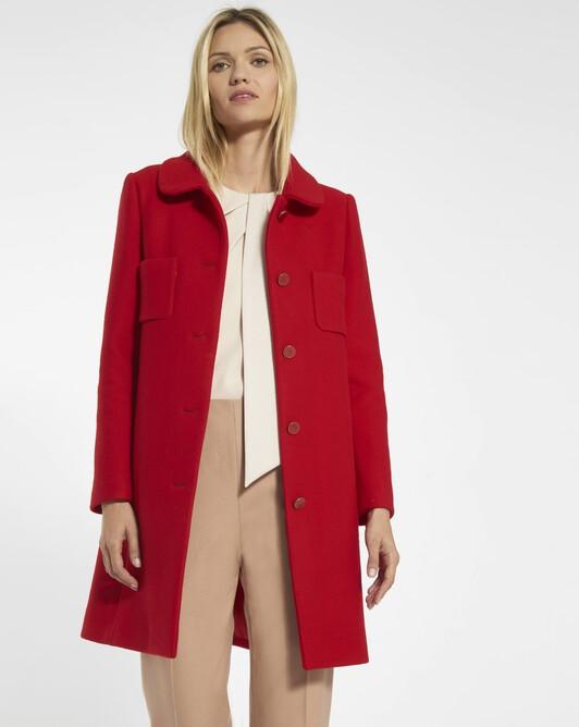Wool coat - red