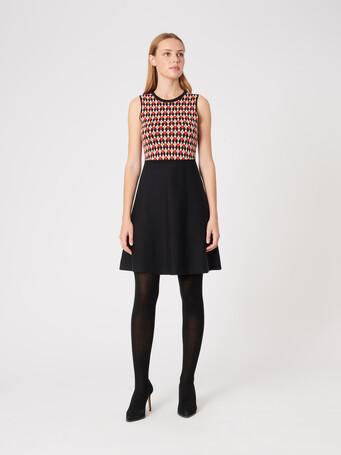 Jacquard dress - Noir / cornaline