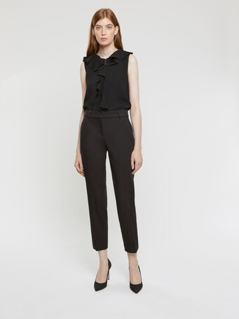 Pantalon en coton couture - Noir