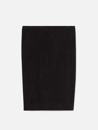 Lambskin leather skirt - Navy blue