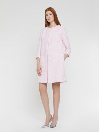 Manteau en tweed Ruban - Opale