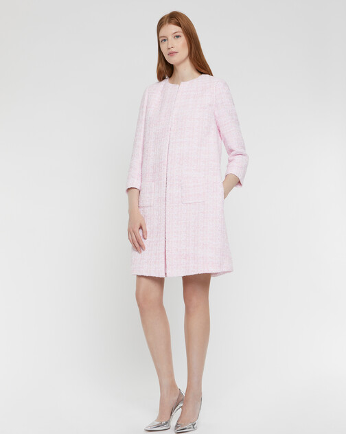 Ribbon-tweed coat